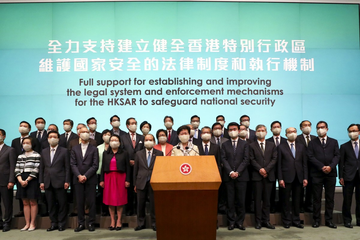 HK Chief Executive vows to co-operate with Beijing Photo: Xiaomei Chen